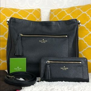 🌸OFFERS?🌸Kate Spade Pebbled Leather w/Tassel Set